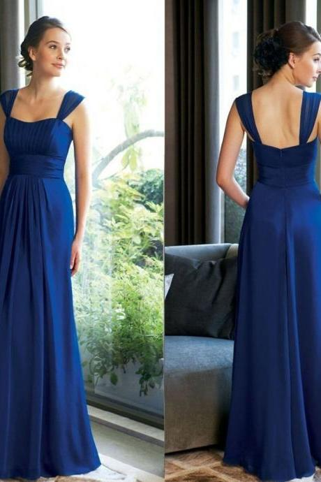 Charming Bridesmaid Dresses,Backless Bridesmaid Dresses,Long Bridesmaid Dresses,Chiffon Bridesmaid Dresse