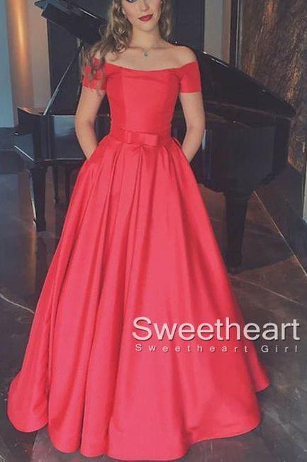 Charming Prom Dress,Off the Shoulder Prom Dress ,Long Prom Dresses,Evening Dress,Evening Dresses