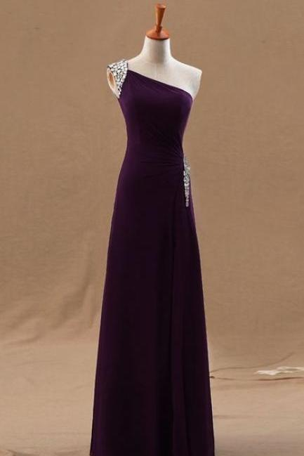Charming Prom Dress,One Shoulder Prom Dresses,Long Evening Formal Dress,Evening Gown,Women Dress