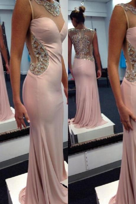 Sexy Prom Dress,Chiffon Mermaid Evening Dress,Long Evening Gown,Prom Dresses