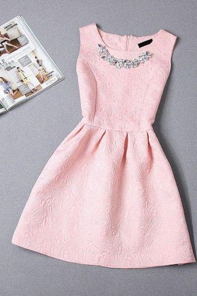 New Arrival Pink Prom Dress,Elegant Prom Dress,Prom Gown,Cute Short Prom Dress
