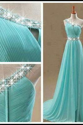 New Arrival Evening Dress,One Shoulder Evening Formal Dress,Long Evening Gown