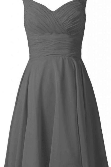 New Arrival Prom Dress,Grey Prom Gown,Elegant Prom Dress,Short Prom Gown
