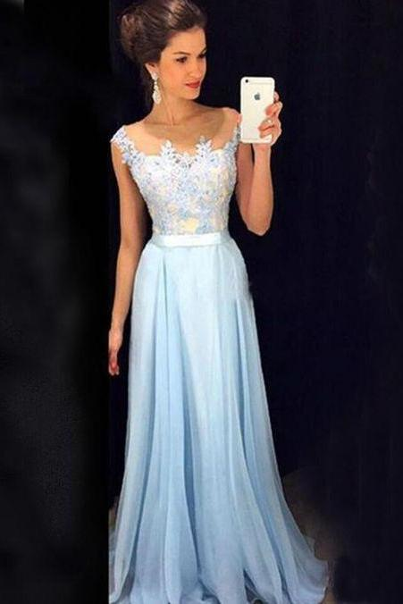 Charming Prom Dress,Backless Evening Dress,Formal Evening Dress,A Line Long Prom Dresses