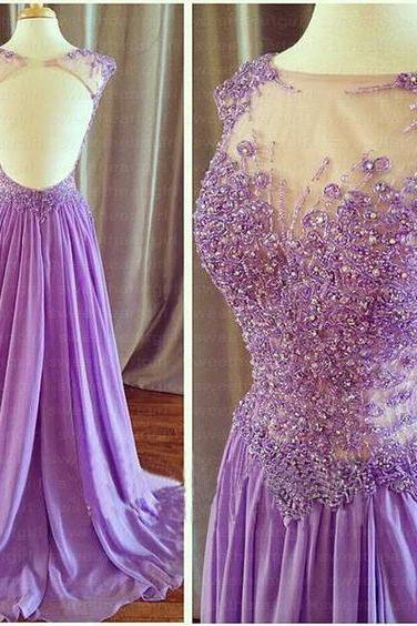 Sexy Prom Dress,Backless Chiffon Prom Dresses,Long Evening Dress,Formal Dress,Prom Dresses