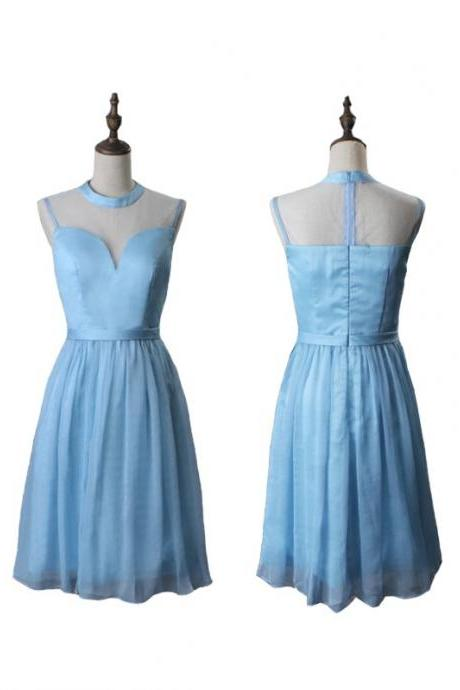 New Arrival Short Homecoming Dress,Elegant Light Blue Homecoming Dress,Prom Dress