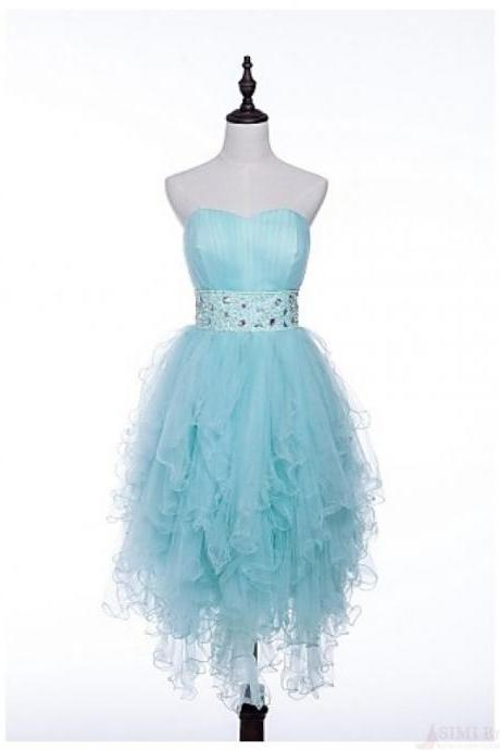 Cute Prom Dress,Homecoming Dress, Short Homecoming Dresses,High Low Prom Dress,Elegant Prom Gown