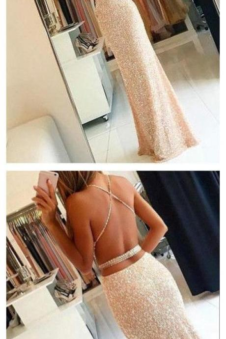 Charming Prom Dress,Sexy Prom Dress,Mermaid Prom Dress,Open Back Evening Dress,Mermaid Formal Gown