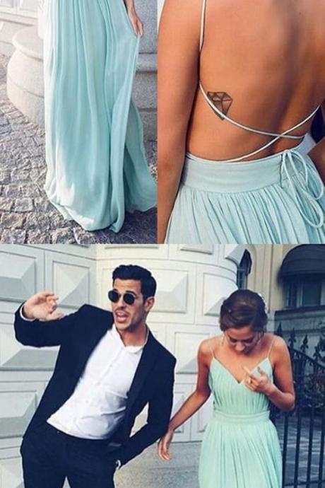 Charming Prom Dress,Sexy Prom Dress ,Simple Prom Dress,Open Back Evening Dress,Prom Dresses