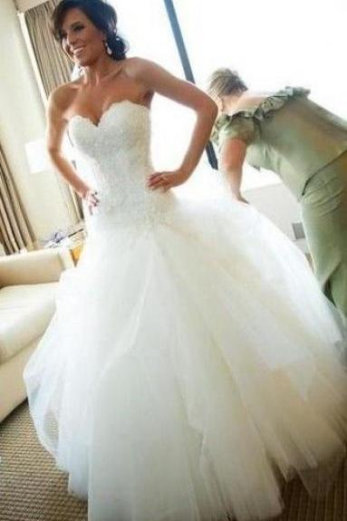 Sexy Wedding Dress,White Wedding Dresses,Backless Wedding Gown ,Bridal Dresses