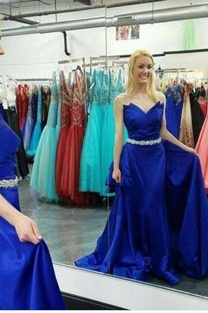 Sexy Prom Dress,Blue Prom Dress,Long Prom Dresses,Formal Evening Dress