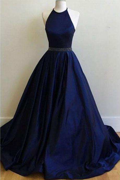Sexy Prom Dress,Sleeveless Prom Dress,A Line Evening Dress,Formal Dress,Open Back Prom Dresses