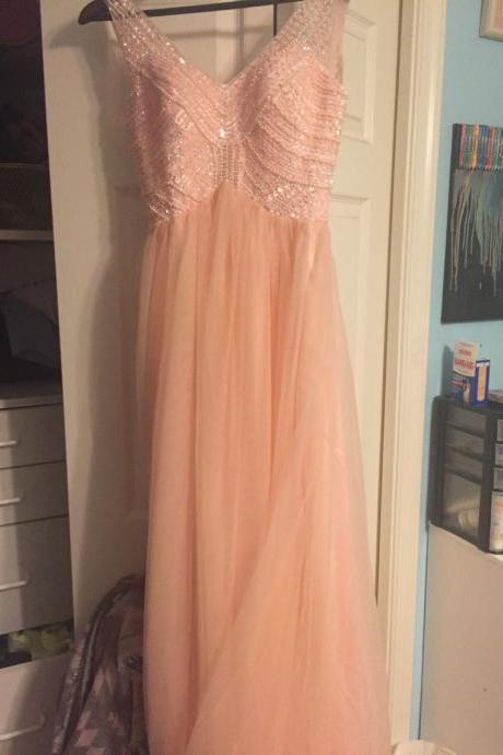 Sexy Prom Dress,Sleeveless Prom Dress,A Line Evening Dress,V Neck Prom Dresses,Beaded Homecoming Dress