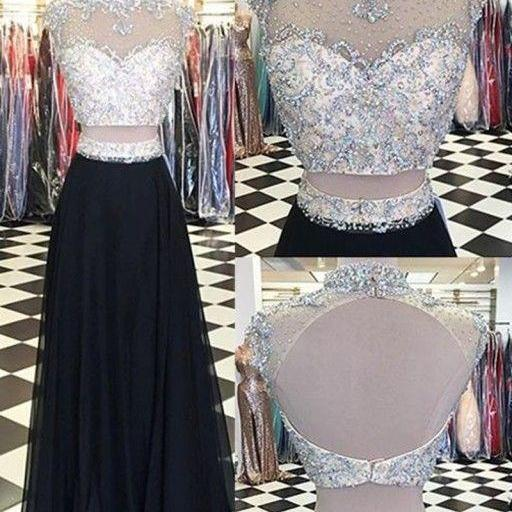 New Arrival Prom Dress,Two Piece Prom Dresses,Long Evening Dress,Elegant Prom Dresses,Floor Length Homecoming Dress